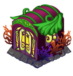 fairy house with ornament in the form of vector image