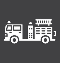 Fire engine glyph icon transport and vehicle vector