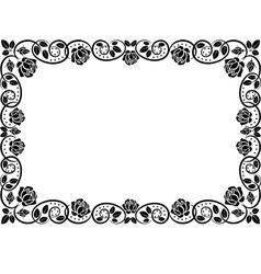 Frame roses vector
