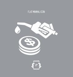 Fuel price - icon vector