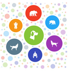 Fur icons vector