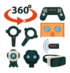 games modern technologies play station vr glasses vector image