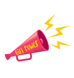 girl power retro poster vector image