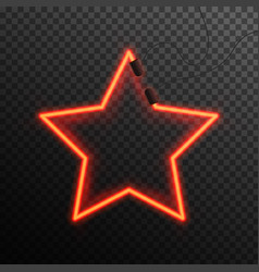Glowing neon effect shining abstract star or vector