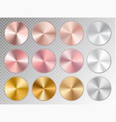 golden conical gradients vector image