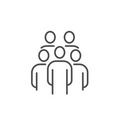 group people related thin line icon vector image