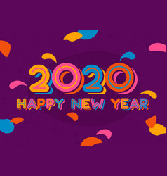 happy new year 2020 typography design vector image