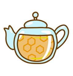 honey tea pot icon hand drawn style vector image