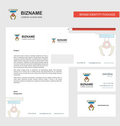 hook business letterhead envelope and visiting vector image