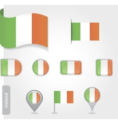 Ireland flag icon vector image