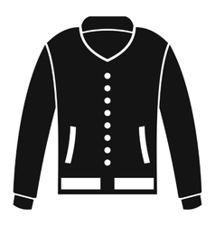 Jacket icon simple style vector image