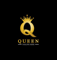 Letter q queen logo design inspiration vector
