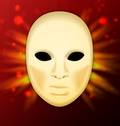llustration of realistic carnival or theater mask vector image