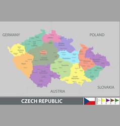 Map of czech republic vector