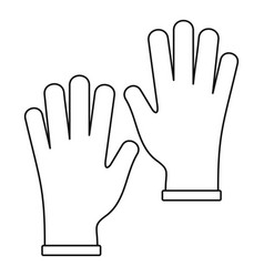 medical gloves icon outline vector image