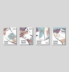 minimal artistic painted design set vector image