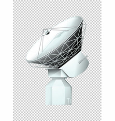 modern satellite on transparent background vector image