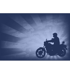 motorcyclist background 2 vector image
