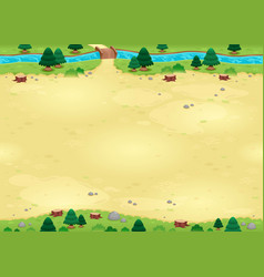 Nature background for games with endless sides vector