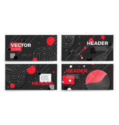 new memphis style banner templates vector image