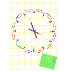 Office clock concept vector image
