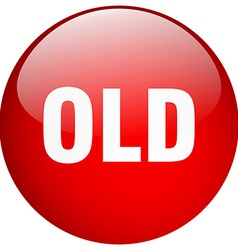 old red round gel isolated push button vector image