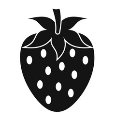 one strawberry berry icon simple style vector image