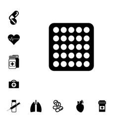Pill icon vector