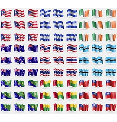 Puerto Rico Honduras Ireland Australia Thailand vector