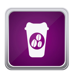 purple emblem coffee espresso icon vector image