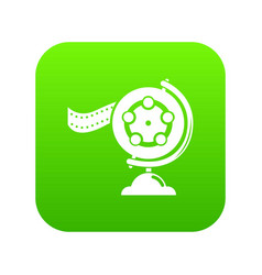reel film icon green vector image