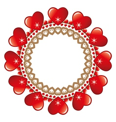 Round loveheart frame vector image vector image