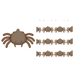 seamless background design with cute spider vector image