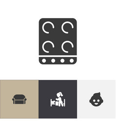 Set of 4 editable kin icons includes symbols such vector