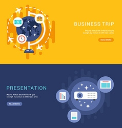 Set of Business Concepts for Web Banners vector