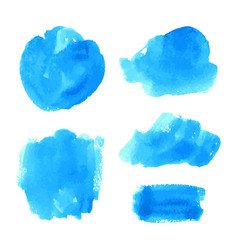Set of turquoise blue watercolor backgrounds vector