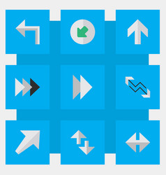Set simple cursor icons vector