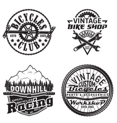 Set vintage emblems vector