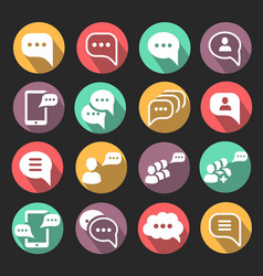 speech bubble icons chat and message sign vector image