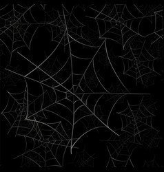 Spider web seamless pattern vector