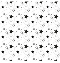 stars seamless pattern the image starry vector image