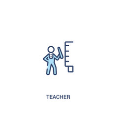 Teacher concept 2 colored icon simple line vector