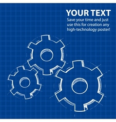 Techno blue abstract background vector image