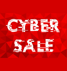 the sign of the cyber sales vector image