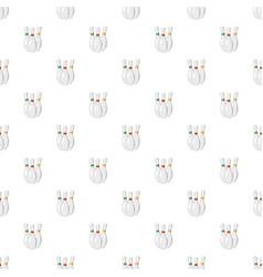 three bowling pins pattern vector image