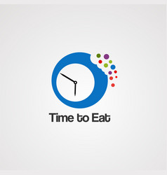 time to eat logo icon element and template for vector image