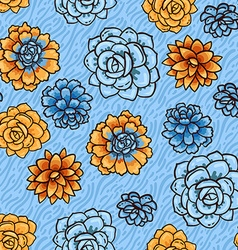 Trend of succulents patterns vector