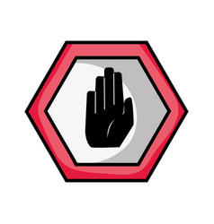 Warning metal notices with stop sign vector