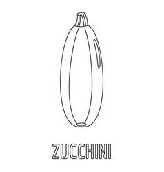 zucchini icon outline style vector image vector image