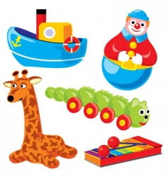 Children's Toys vector image vector image